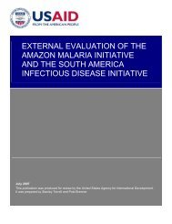 External Evaluation of the Amazon Malaria Initiative and ... - GH Tech