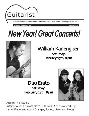 January/ February 2007 - Minnesota Guitar Society