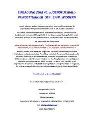 einladung um 46. :ugendfussball- pfingstturnier der spfr. widdern