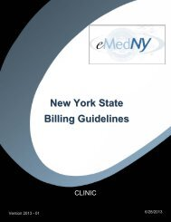 Clinic Billing Guidelines - eMedNY