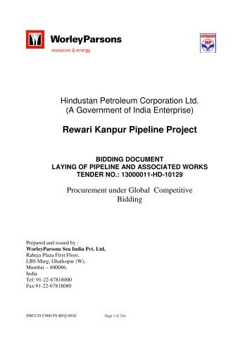 Pipelaying Tender-VOL I - WorleyParsons.com