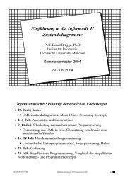 Einführung in die Informatik II Zustandsdiagramme