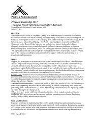 Position Announcement Program Internship 2011 Campus Host ...