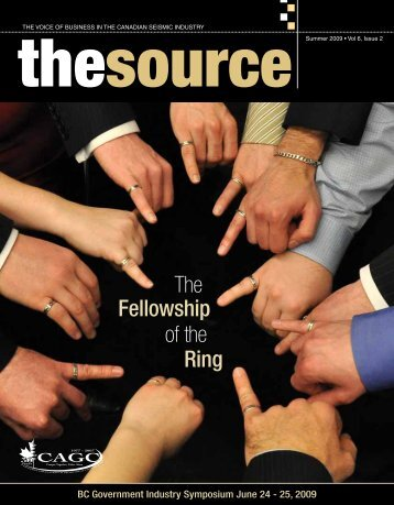 Fellowship Ring The of the - Canadian Association of Geophysical ...