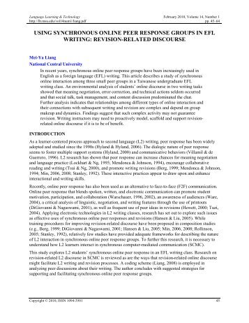 efl motivation essay In indonesia, research investigating llss or motivation in efl writing in  to  write an analytical exposition essay of about 200 words on a currently popular.