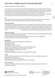Kurzversion Abfallkonzept für Festveranstaltungen - Zürich