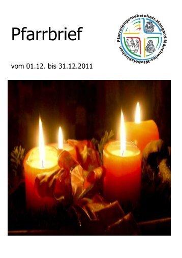 Pfarrbrief Dezember 2011 - Pfarreiengemeinschaft Hangard ...