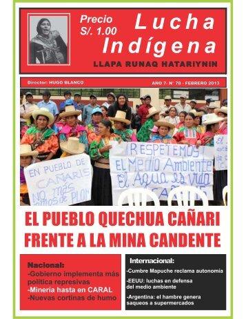 Lucha Indígena No 78 PDF