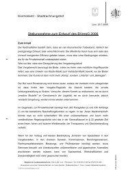 Stellungnahme zum Entwurf des BVergG 2006