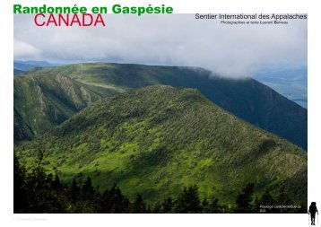 CANADA - Sentier international des Appalaches