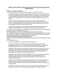 Driver License Testing and Application Processing by Third Parties