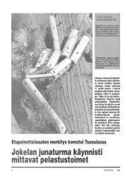 Jokelan junaturma 1996 - Pelastustieto