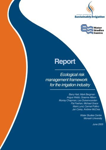 Ecological risk management - Land and Water Australia