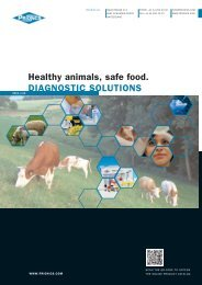 Healthy animals, safe food. DIAGNOSTIC SOLUTIONS - Prionics