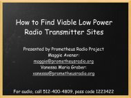 How to Find Viable Low Power Radio Transmitter Sites