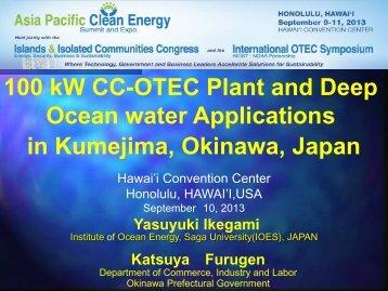 Ikegami Y_ OTEC Okinawa Plant - Hawaii National Marine ...