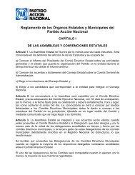 e) Reglamento de los Órganos Estatales y Municipales del Partido ...