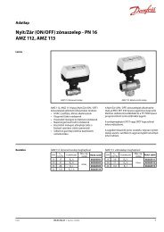 Nyit/Zár (ON/OFF) zónaszelep - PN 16 AMZ 112, AMZ 113