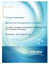Barclays CEO Energy/Power Conference - Encana