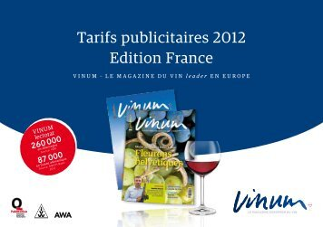 Tarifs publicitaires 2012 Edition France
