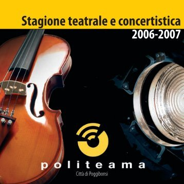 Stagione teatrale e concertistica - Politeama