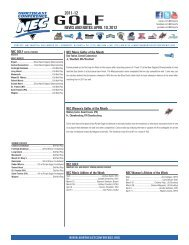 2011-12 NEWS AND NOTES: APRIL 10, 2012 - Northeast Conference