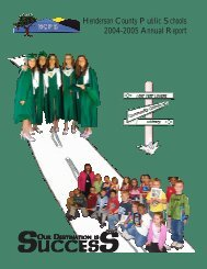Road To Success, 2004-2005 Annual Report - Henderson County ...