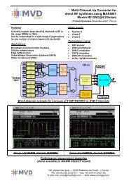 MVD Up-Converter for MAX5881 Core Overview - Multi Video Designs