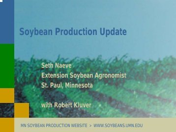Soybean Production Update