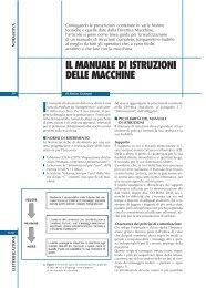 Il manuale di istruzioni della macchina - Sicurweb