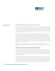 The Role of Emotional and Social Intelligence in ... - Legal Recruiters