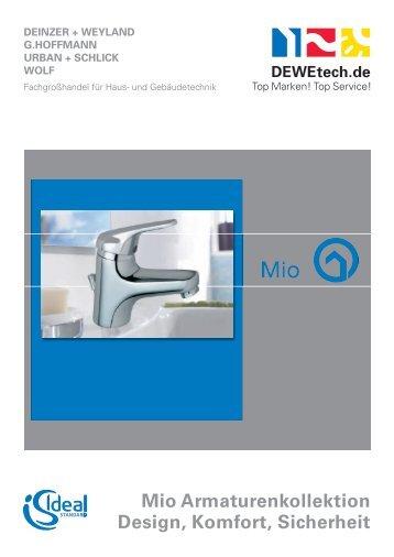 MIO Armaturenkollektion Ideal Standard - Deinzer + Weyland GmbH