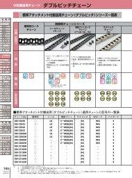 標準アタッチメント付搬送用チェーン(ダブルピッチ)シリーズ ... - 大同工業