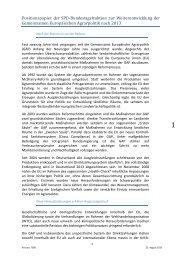 Positionspapier der SPD-Bundestagsfraktion zur Weiterentwicklung ...