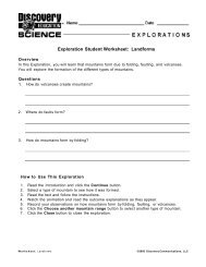 Exploration Student Worksheet: Ferns and Mosses