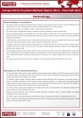 europe online payment methods report 2013 - first half ... - yStats.com - Page 7
