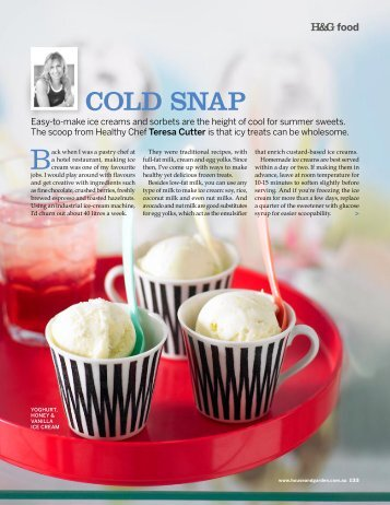 COLD SNAP - The Healthy Chef