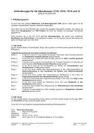 Anforderungen für die Altersklassen 17/18, 15/16, 13/14 und 12