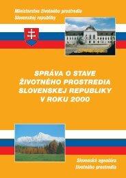 správa o stave životného prostredia slovenskej republiky v roku 2000