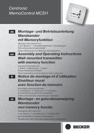 Notice Becker MC511.pdf - Conseils sur les stores