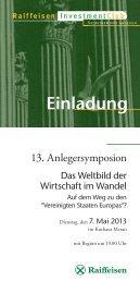 13. Anlegersymposion_deutsch.indd - Raiffeisen