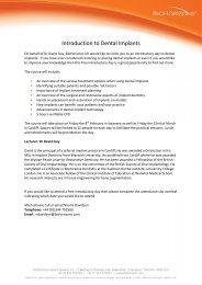 Introduction to Dental Implants - BioHorizons