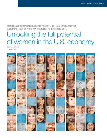 Unlocking the full potential of women in the U.S. economy