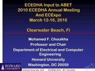 Mohamed Chouikha, Howard University - ecedha