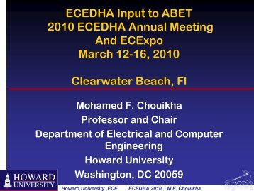 Mohamed Chouikha, Howard University - ecedha
