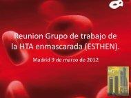 Reunión Grupo de trabajo de la HTA enmascarada (ESTHEN).