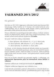 VALIKAINED 2011/2012 - Rocca Al Mare Kool