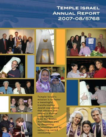 Temple Israel Annual Report 2007-08/5768 - Temple Israel of Boston