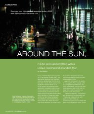 AROUND THE SUN, - Lighting & Sound America