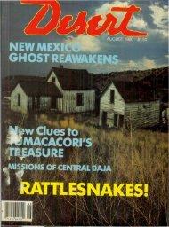 ^AfURE - Desert Magazine of the Southwest